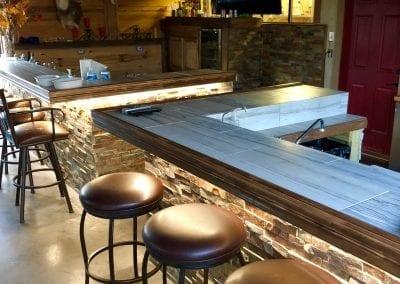 sports bar area hunting lodge